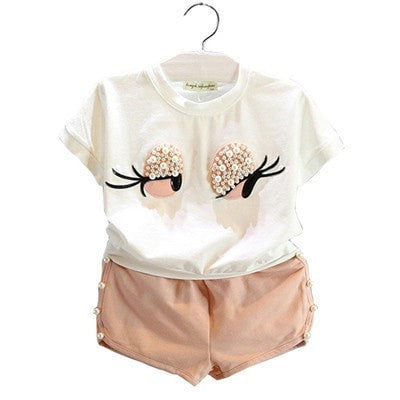 Girls  Lovely Long Eyelashes Clothes Set - GrandTrends