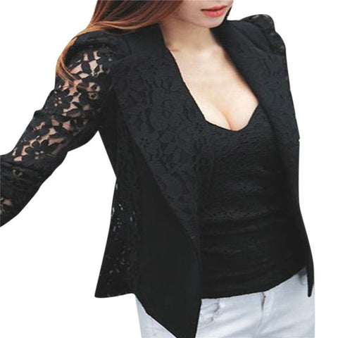 New Women Blazer  Long Sleeve Single Button - GrandTrends
