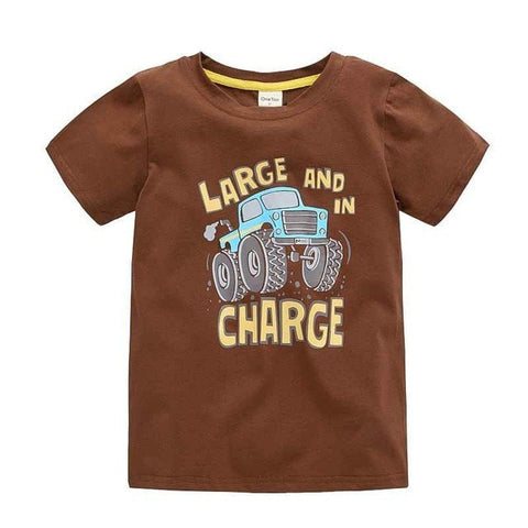 Boys t-shirt Cotton Cartoon Clothing - GrandTrends