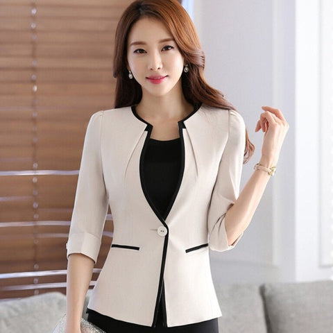 Female Half sleeve women blazer - GrandTrends