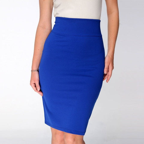 Women Pencil High Waist Office Skirt - GrandTrends