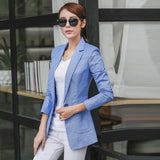 S-4XL New Women's Blazer Spring 2017 Fashion Classic Solid color Linen Cotton Small Blazers Coat Slim Outerwear Work Tops Female - GrandTrends