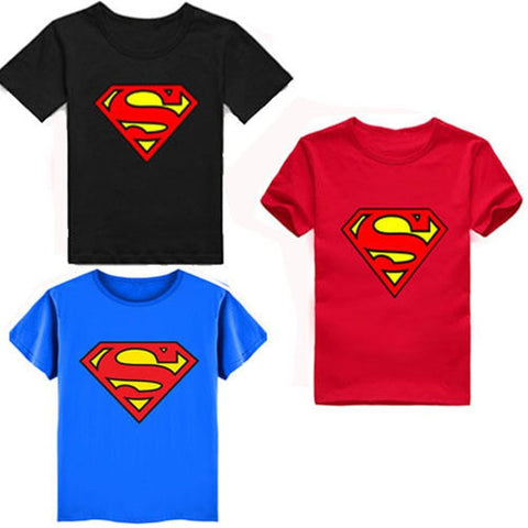 Boys Superman Short Sleeve T-Shirts - GrandTrends