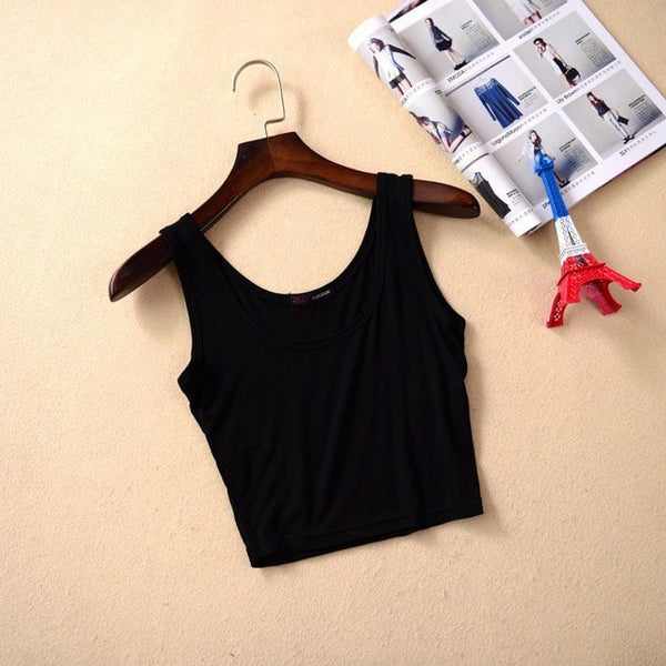 Summer Slim Short Top Women Sleeveless - GrandTrends