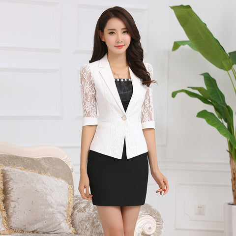 Women's Office Work Blazer Coat Half-sleeve - GrandTrends