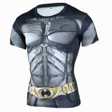 New Fitness Compression Shirt Men Anime Superhero Punisher Skull Captain Americ 3D T Shirt Bodybuilding Crossfit tshirt - GrandTrends