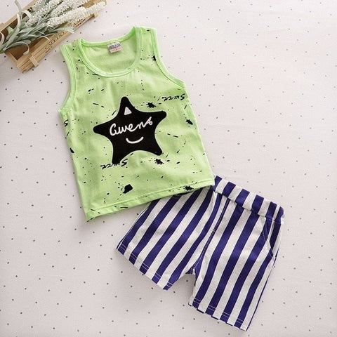 Summer Baby Boys Short Sleeve Clothes - GrandTrends