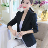 Women Blazers long sleeve  Slim jacket - GrandTrends