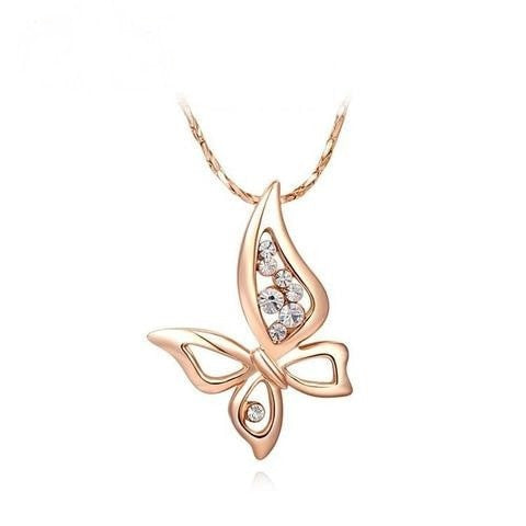 Women Butterfly Fashion Rose Gold Color Chain - GrandTrends