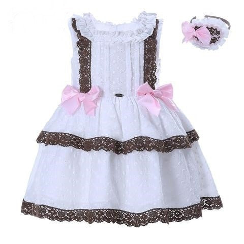 Girl Dress With Lace Kids Cotton - GrandTrends