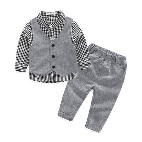 Baby boy clothes gentleman 3pieces - GrandTrends