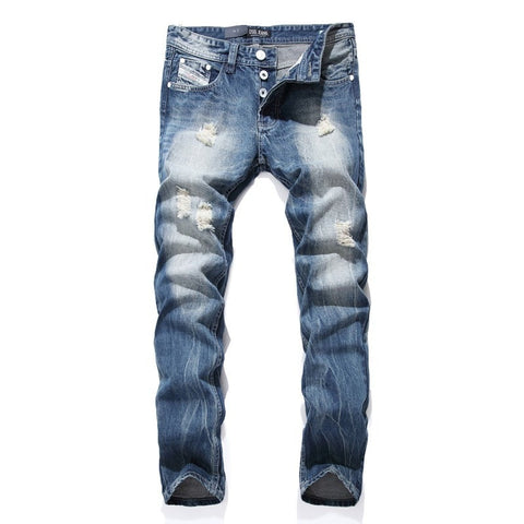 Night Club White Button Jeans Men - GrandTrends