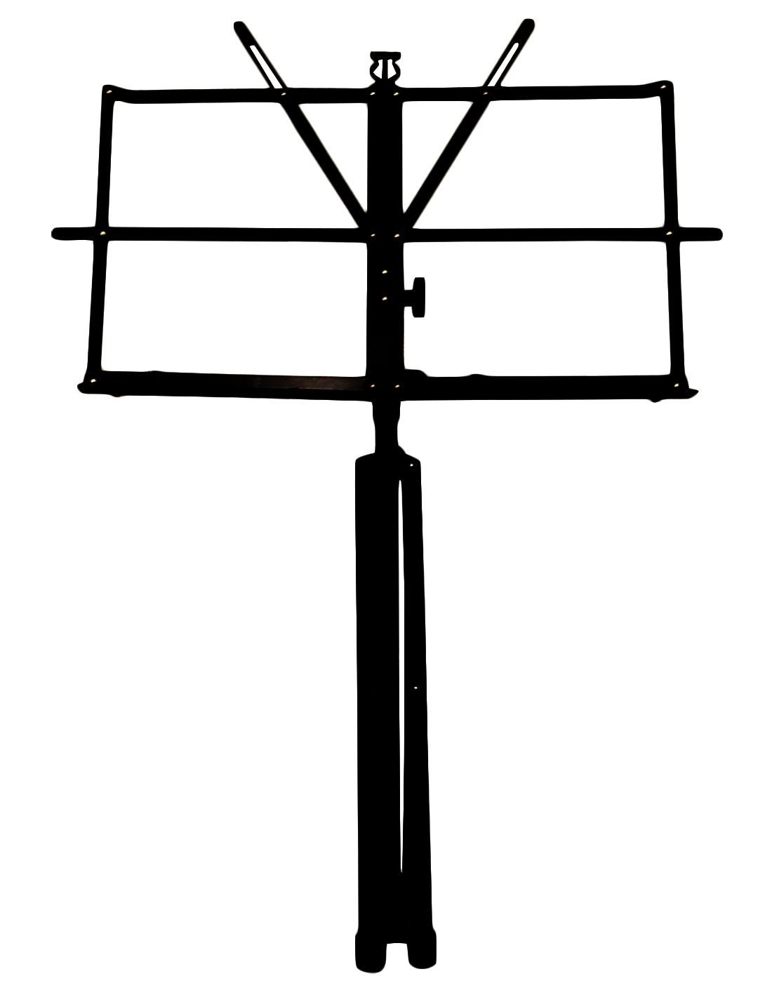 Crafty Gizmos Black Adjustable Folding Music Stand with Carrying Bag