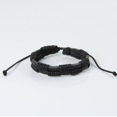 Hand-Woven Leather Strap Rope Wrist Band