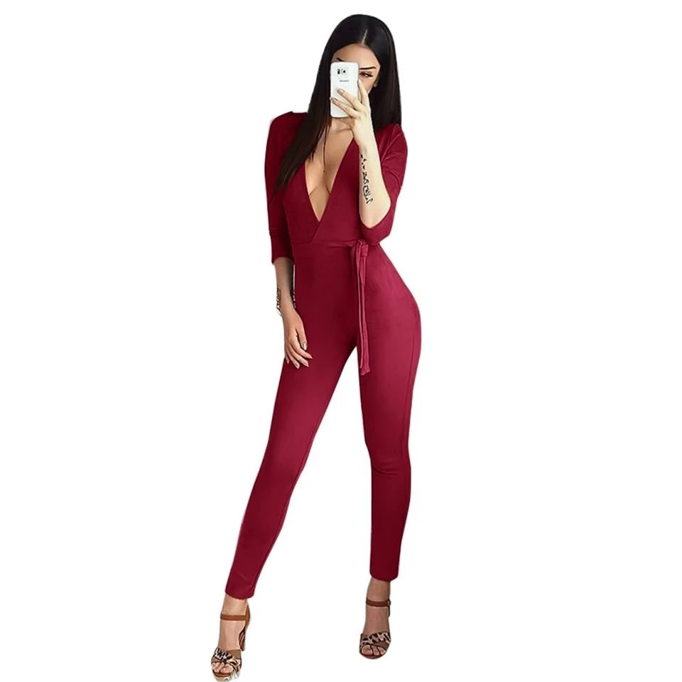 Sexy Rompers Suede Jumpsuits
