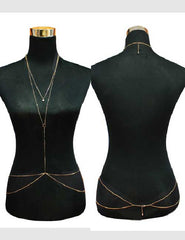 Gold Metal Skinny Body Chain