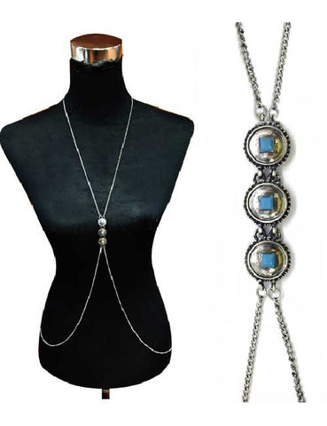 Turquoise Stone Body Chain