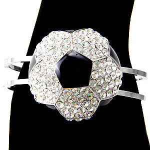 Crystal Soccer Ball Bangle