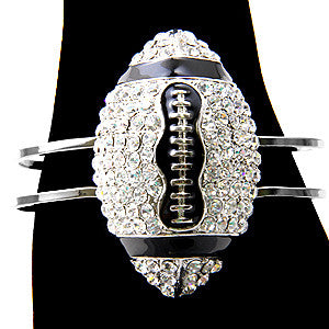 Bracelet Bangle Crystal Football Clear