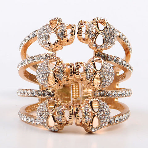 Skull Rhinestone Bangle Bracelet