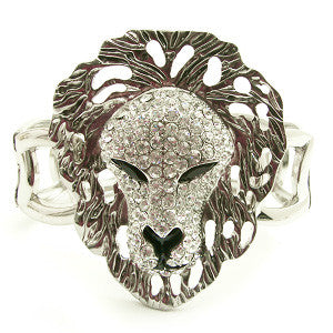 Lion Crystal Bangle