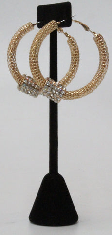 Hoop Rhinestone Earrings