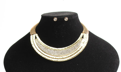 Aged Metal with Rhinestone Choker