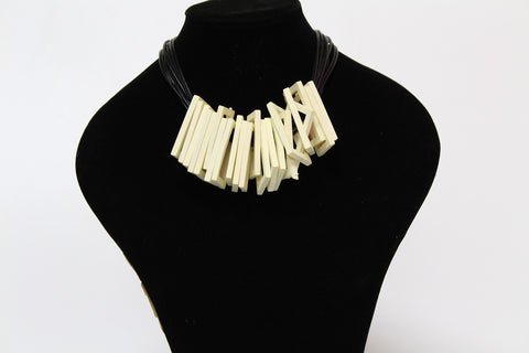 Multi Layered Rectangle Wooden necklace
