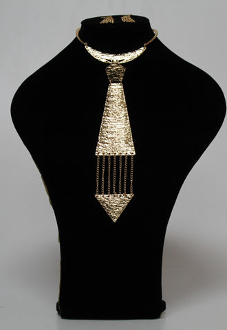 Gold Neck Tie Set
