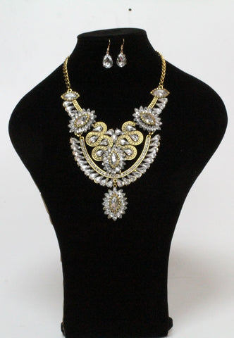 Crystal Sunflower Necklace Set