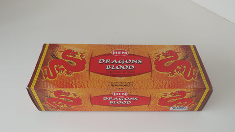 Dragons Blood Incense,Box of 6 Hex Tubes - Neko-Chan Incense