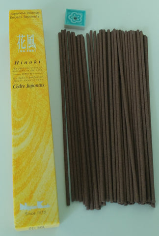 Kafu Hinoki Cypress Less Smoke Incense, 50 Sticks - Neko-Chan Incense