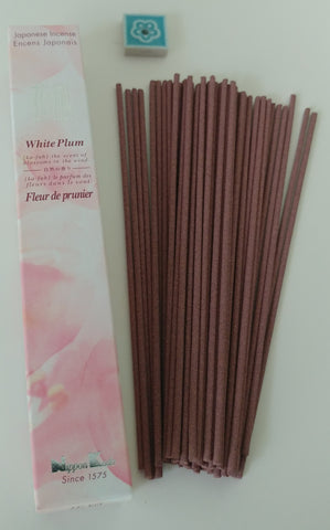 Kafu White Plum Less Smoke Incense, 50 Sticks - NEW - Neko-Chan Incense