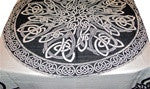 Celtic Knot Table Cloth, Purple or White BG - Neko-Chan Incense