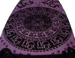 Om Calligraphy Table Cloth - Black on Purple - Neko-Chan Incense