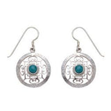 Mandala Earrings, Sterling Silver - BACK IN STOCK - Neko-Chan Incense