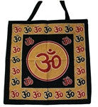 Om Cotton Bag - Red/Black/Gold - Neko-Chan Incense