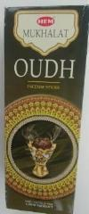 Oudh Stick Incense,  Box of 6 hexagonal tubes - Neko-Chan Incense