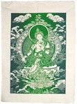 Green Tara Single Flag - Neko-Chan Incense