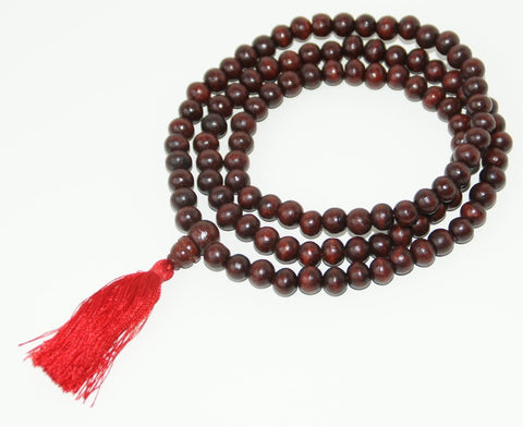 Tibetan Red Sandalwood Mala - TEMPORARILY OUT OF STOCK