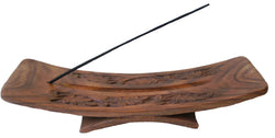 Hand Carved Wood Incense Burner WITH 250 gm Nag Champa - SPECIAL!