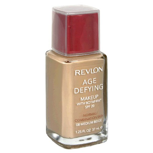 REVLON Age Defying Makeup with Botafirm, Normal/Combination Skin, Medium Beige 08 - ADDROS.COM