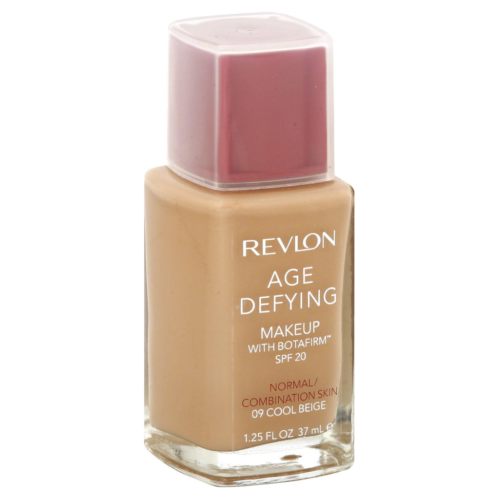 REVLON Age Defying Makeup with Botafirm, SPF 20, Normal/Combination Skin, Cool Beige 09, 1.25-Ounce - ADDROS.COM