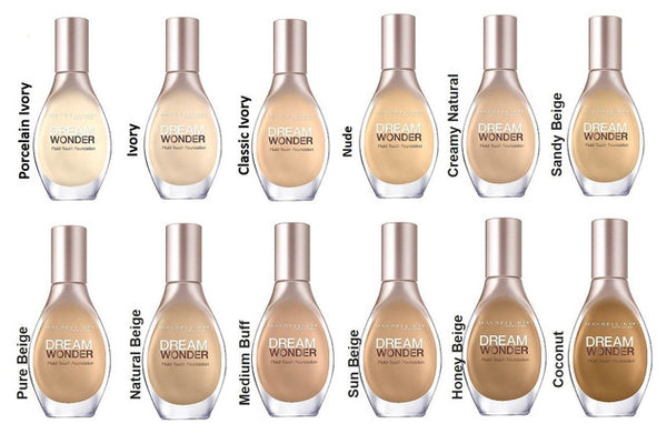 Maybelline Dream Wonder Fluid-Touch Foundation, Medium Buff 80