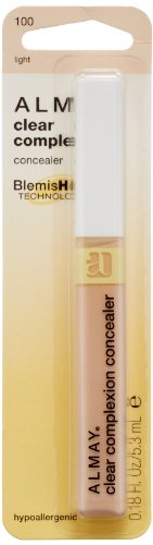 ALMAY Clear Complexion Concealer Corrector, Light [100], 0.18 oz