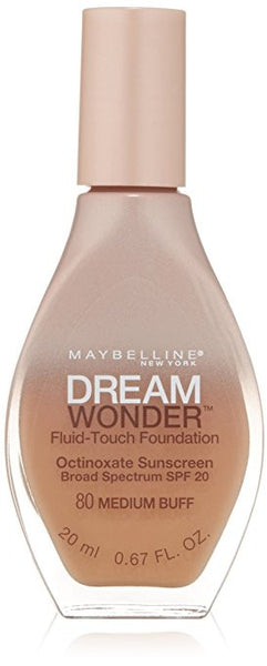 Maybelline Dream Wonder Fluid-Touch Foundation, Medium Buff 80 - ADDROS.COM