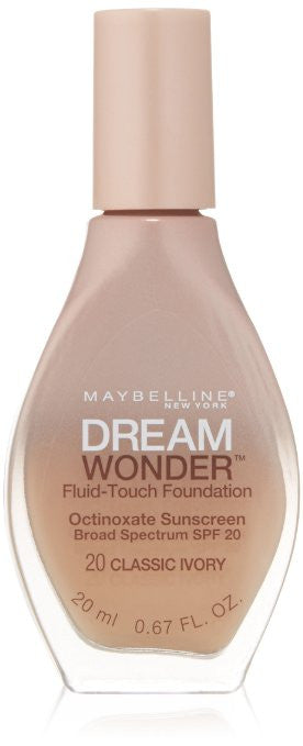 Maybelline Dream Wonder Fluid-Touch Foundation, Classic Ivory 20 - ADDROS.COM
