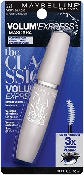 Maybelline Volum' Express Curved Brush Washable Mascara, 221 Very Black - ADDROS.COM