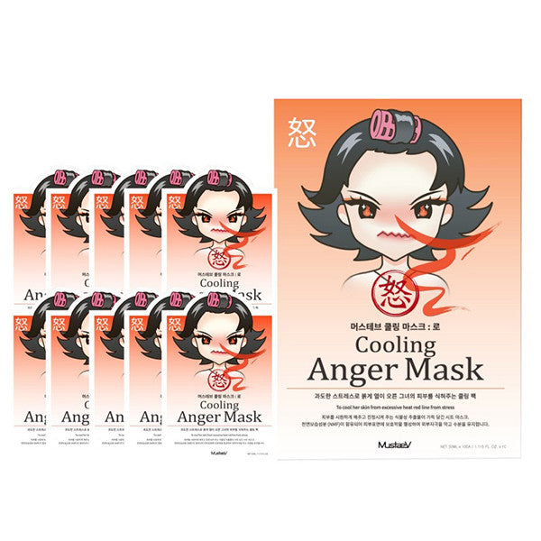 MustaeV - Mood Therapy Mask - Anger (10 Pack)