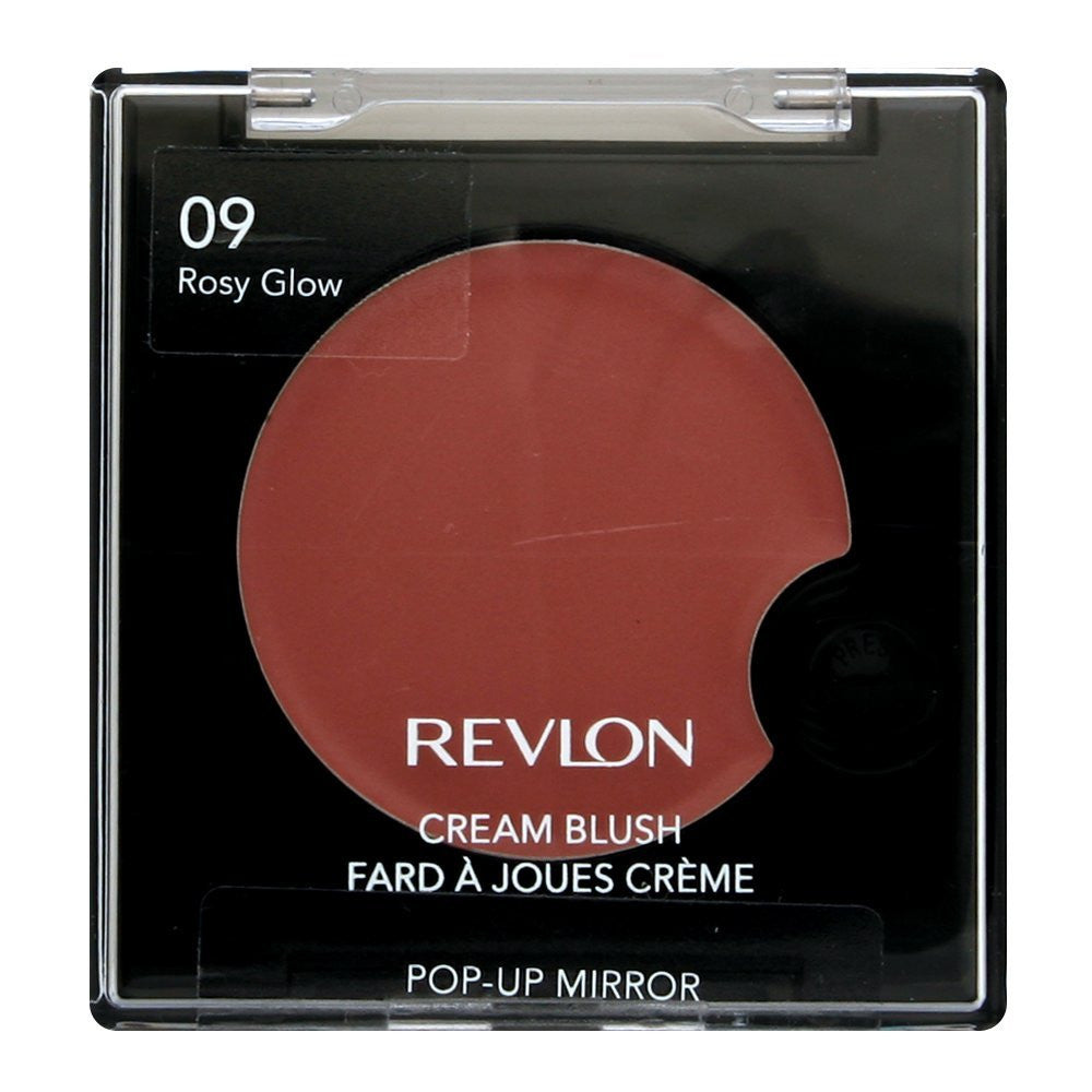Revlon Cream Blush with Pop-Up Mirror, Rosy Glow 09 - 0.12 oz - ADDROS.COM
